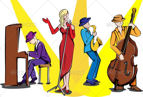GraphicRiver Jazz Ensemble 5974603