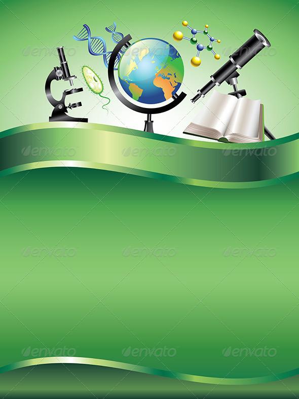 GraphicRiver Scientific Vertical Vector Background 5974618
