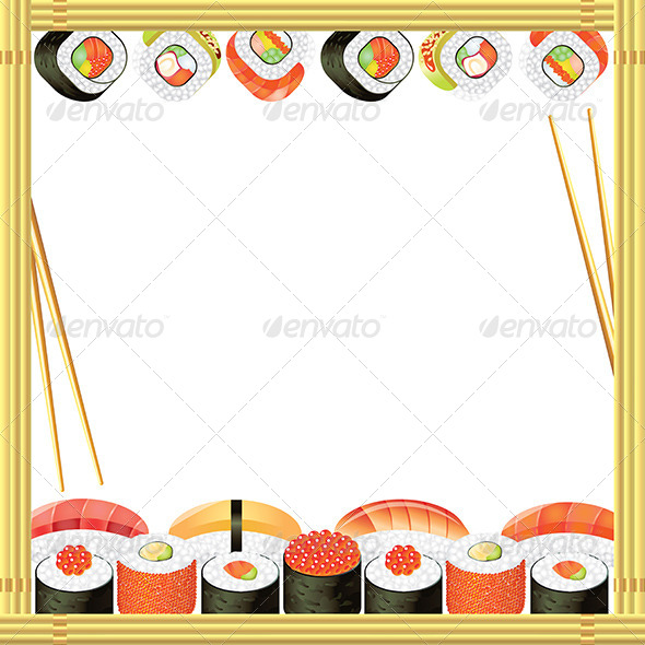 Sushi Frame Vector Background