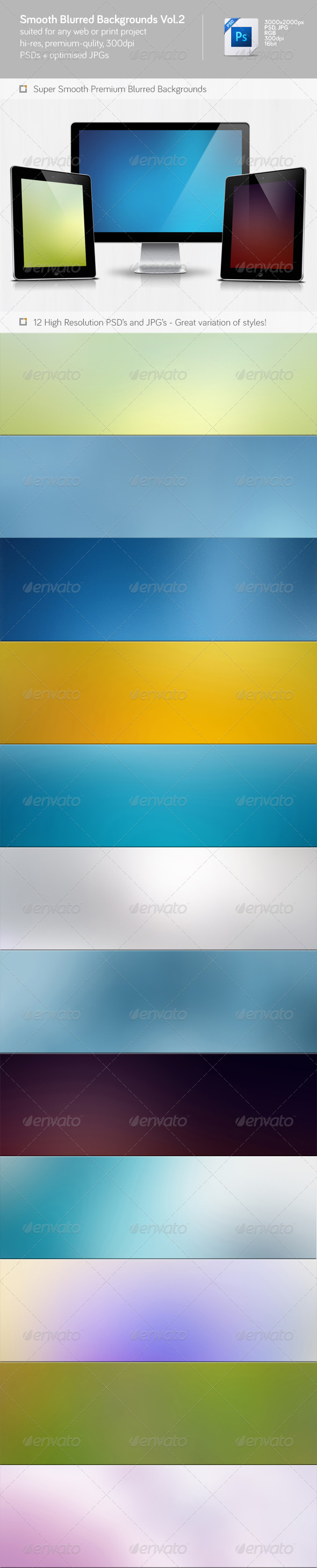 GraphicRiver Smooth Blurred Backgrounds Vol.2 5975091