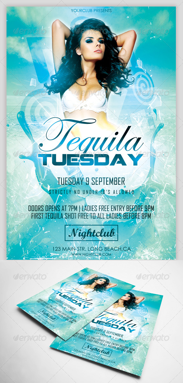 Tequila Tuesday Flyer Template - Clubs & Parties Events