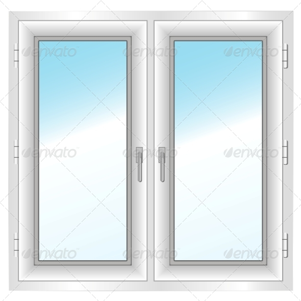 GraphicRiver Plastic Closed Double Window 5975160