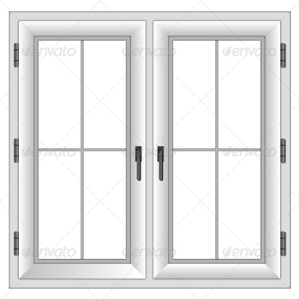 GraphicRiver Plastic Closed Double Window 5975161