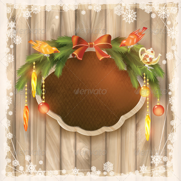 GraphicRiver Christmas Frame Board 5975171