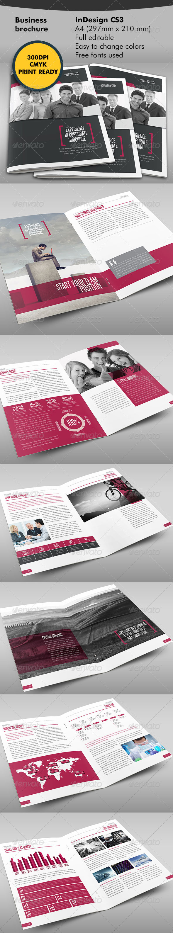 GraphicRiver Business One Step Further Brochure 5975192