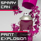 Real Graffiti Spray Can + Paint Splash Explosion
