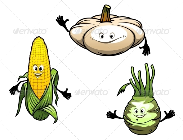 GraphicRiver Cartoon Vegetables 5975391