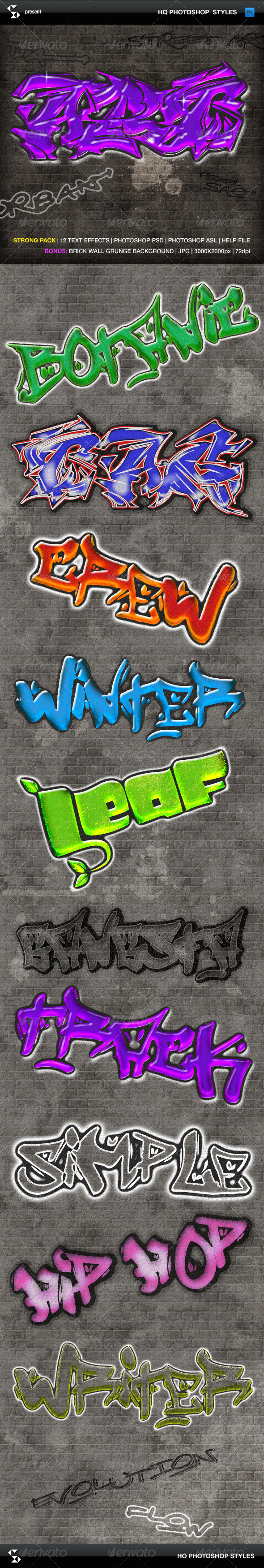 GraphicRiver Urban Graffiti Text Effects 5975406