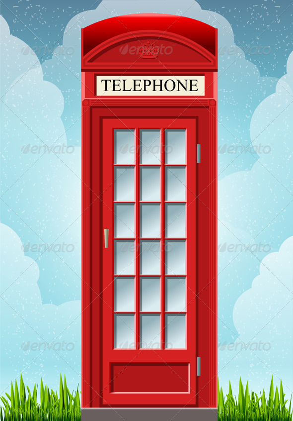 GraphicRiver English Red Telephone Cabin 5975421