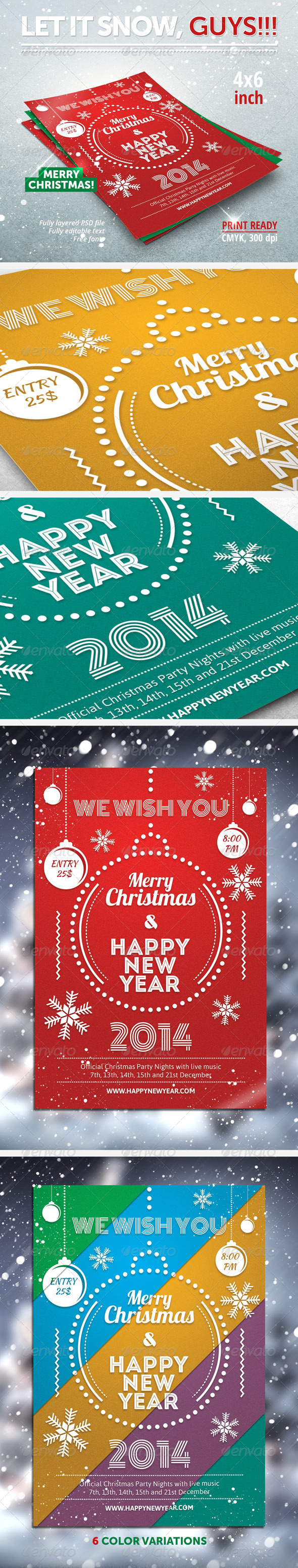 GraphicRiver Christmas New Year party flyer 5975431