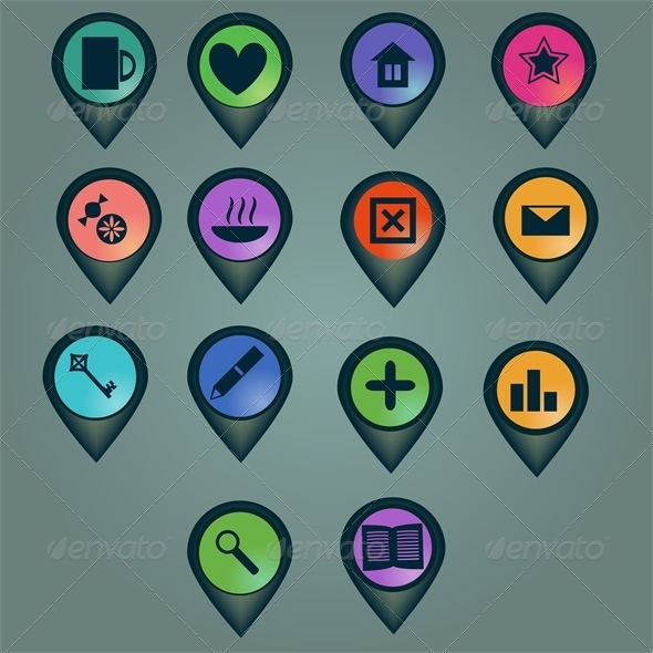 GraphicRiver Markers Set 5975495