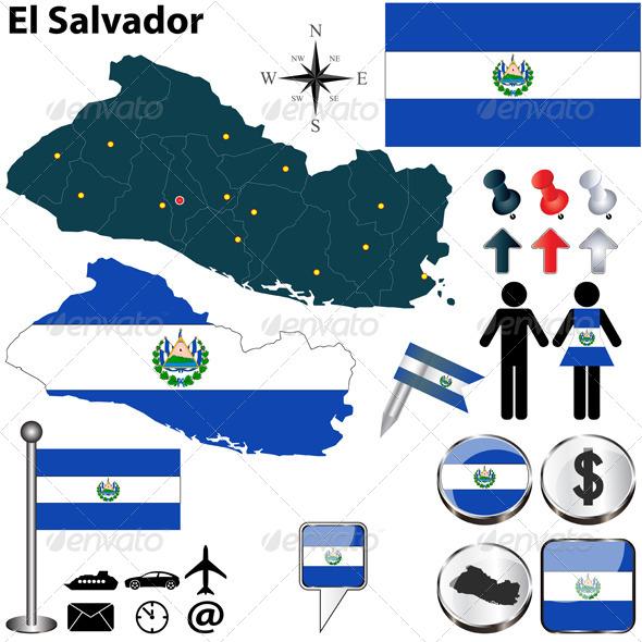 GraphicRiver Map of El Salvador 5975801