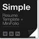 Simple Resume / CV Template + Mini Portfolio - GraphicRiver Item for Sale