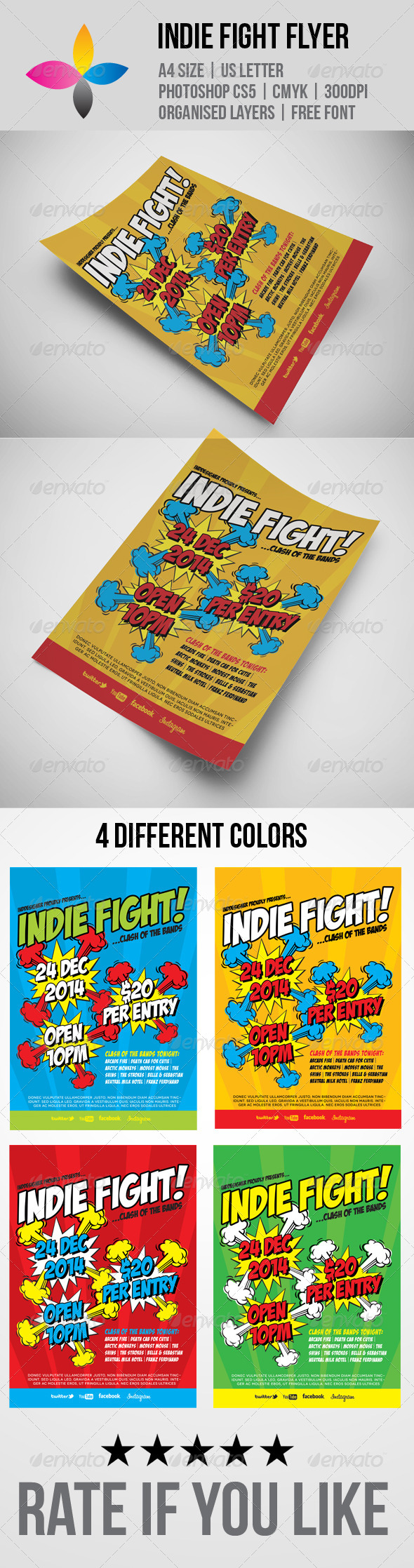 GraphicRiver Indie Fight Flyer 5976322