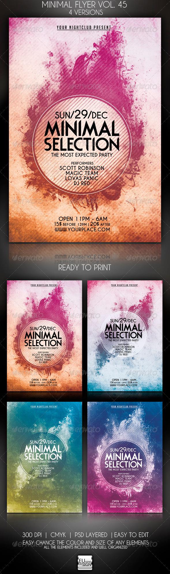 GraphicRiver Minimal Flyer Vol 45 5976514