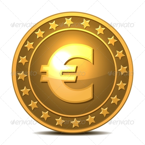 GraphicRiver Gold Coin with Euro Sign 5976556