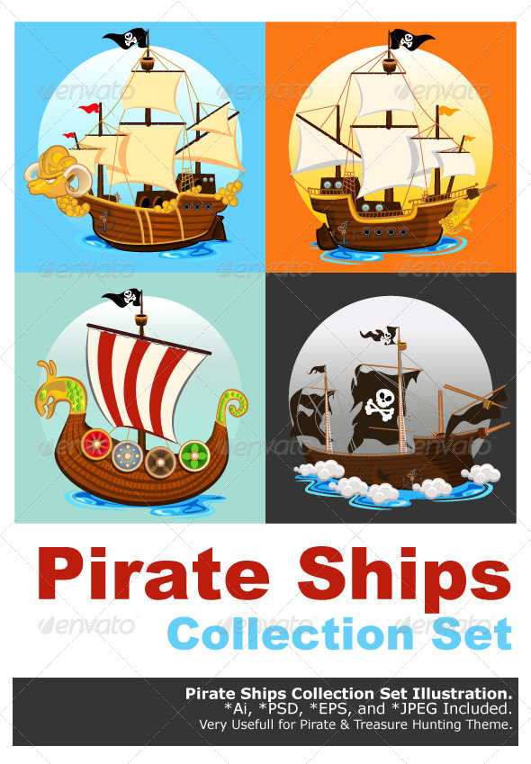 GraphicRiver Pirate Ship Collection Set 5976596