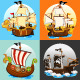 Pirate Ship Collection Set - GraphicRiver Item for Sale