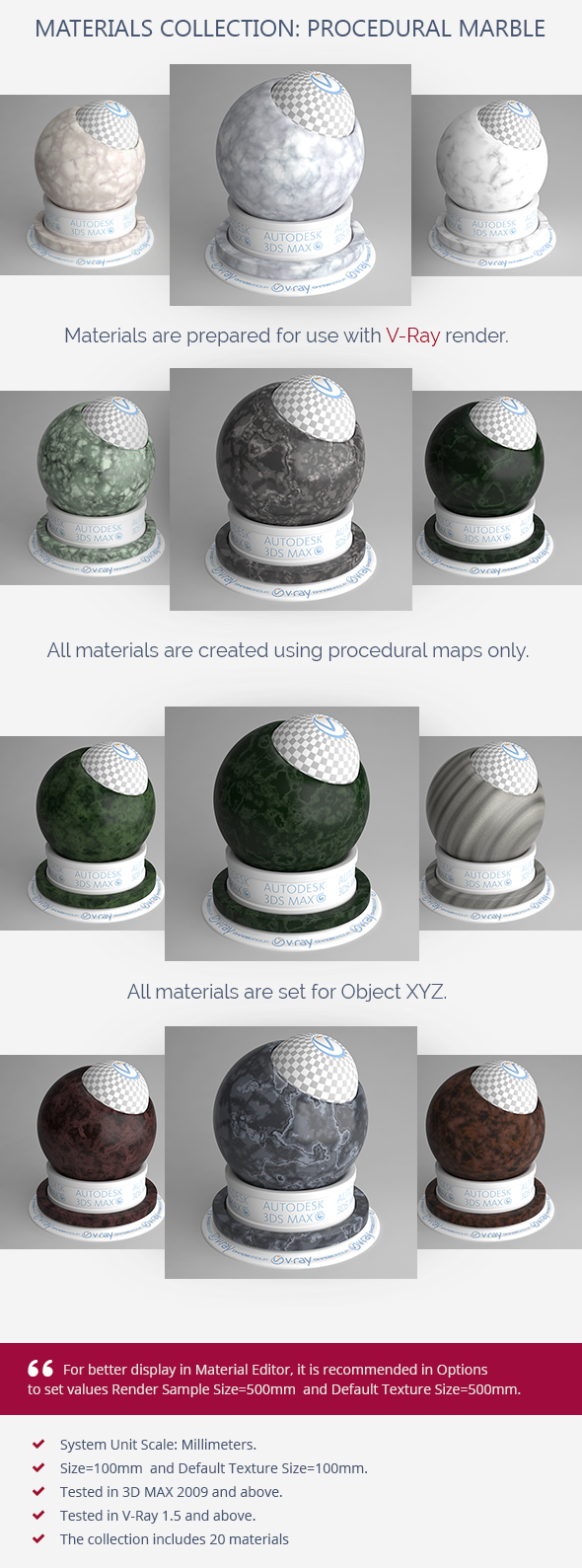 Procedural Marble - 3DOcean Item for Sale