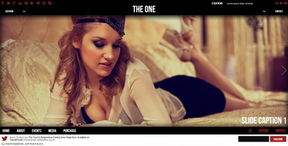 The One || One Page HTML Template - Portfolio Creative