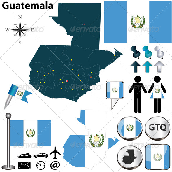 GraphicRiver Map of Guatemala 5976915