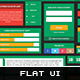 Flat User Interface Elements Set - GraphicRiver Item for Sale