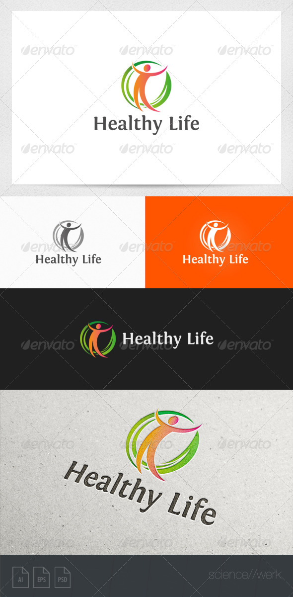 GraphicRiver Healthy Natural Life Logo Template 5977748