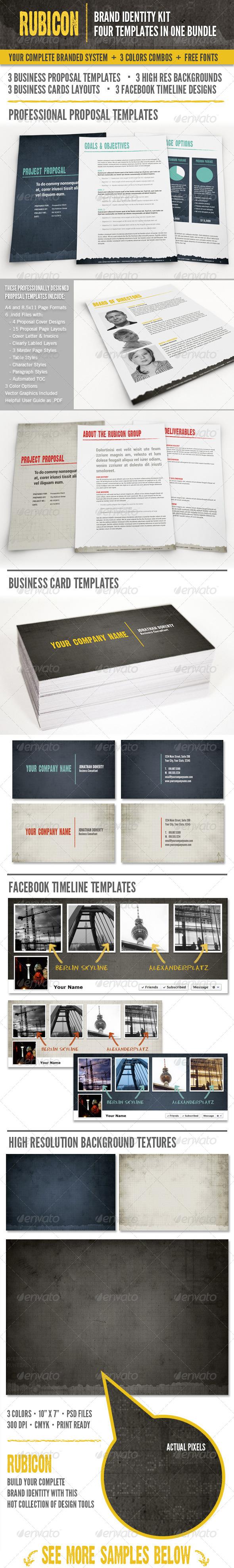 Rubicon Branded Identity Kit Bundle - Miscellaneous Print Templates
