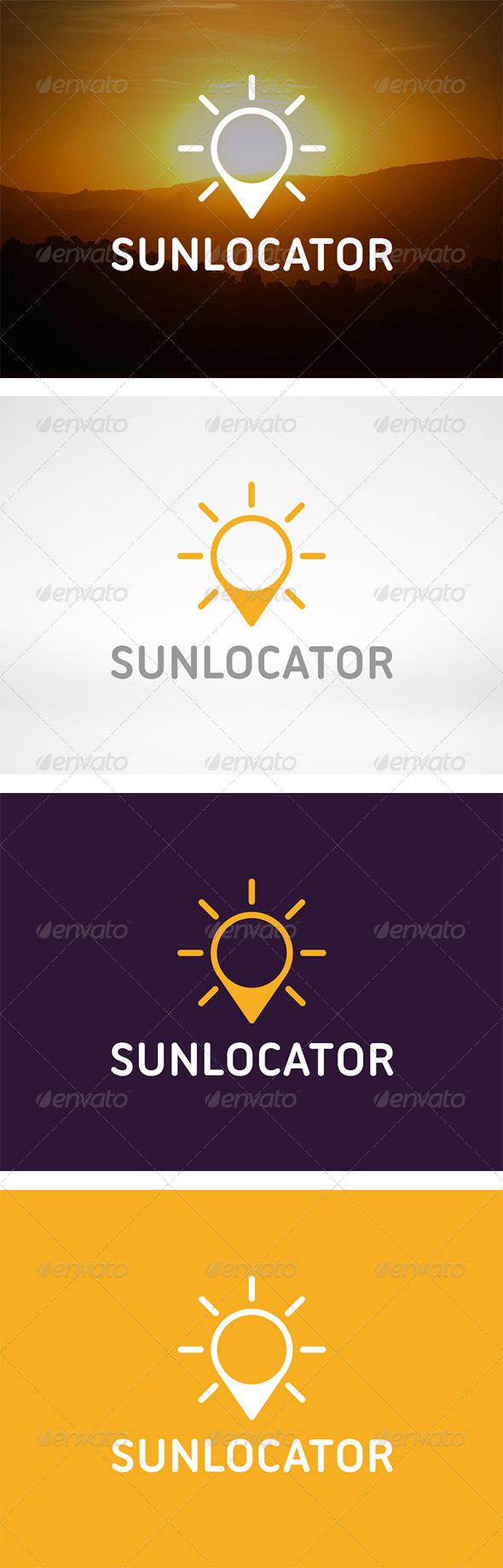 Sun Locator Logo - Nature Logo Templates