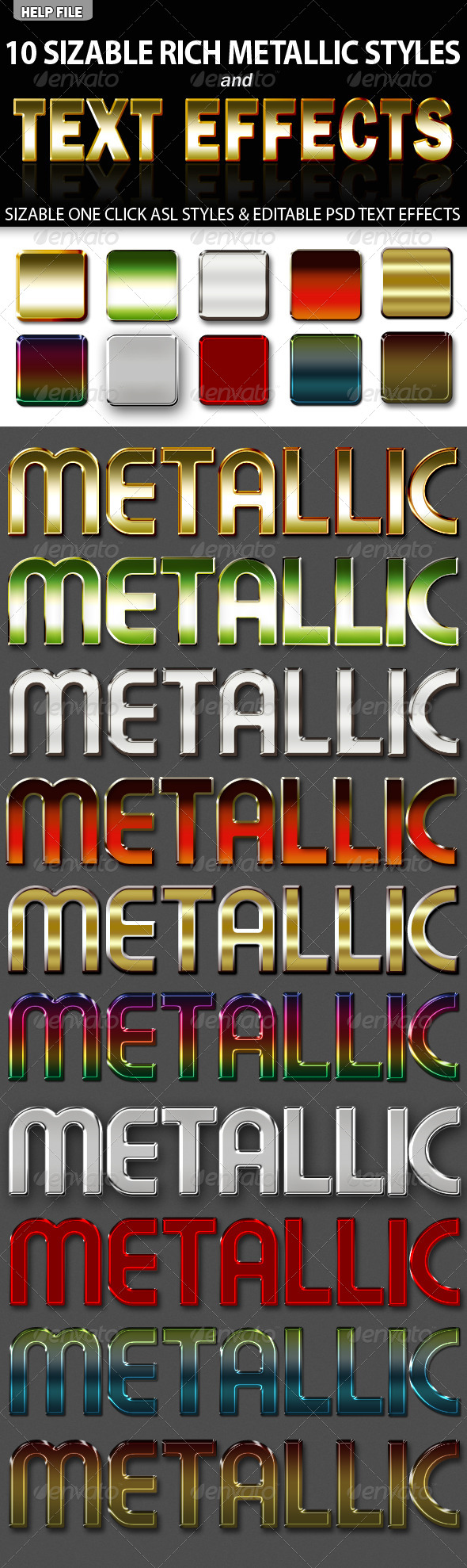 GraphicRiver 10 Rich Metallic ASL Styles & PSD Text Effects 5978001
