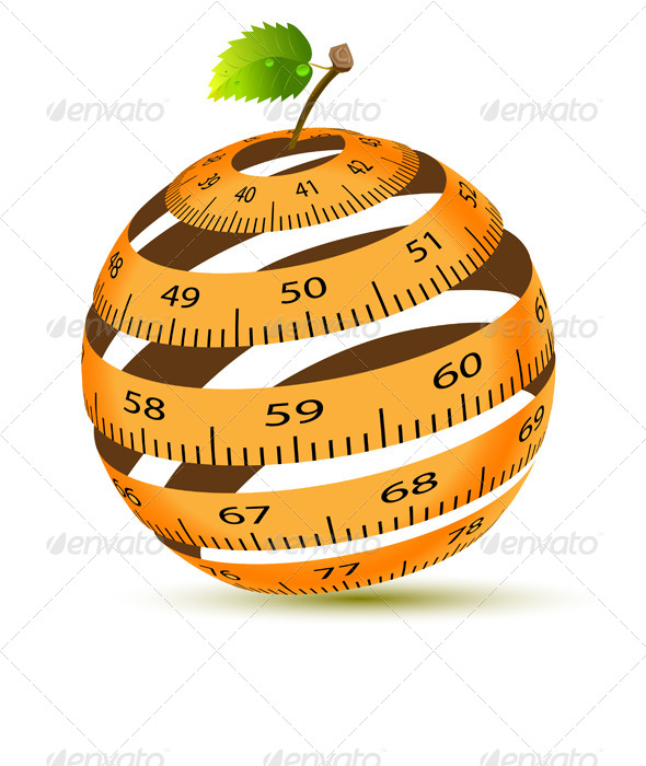 GraphicRiver Apple and Measuring Tape 5978171