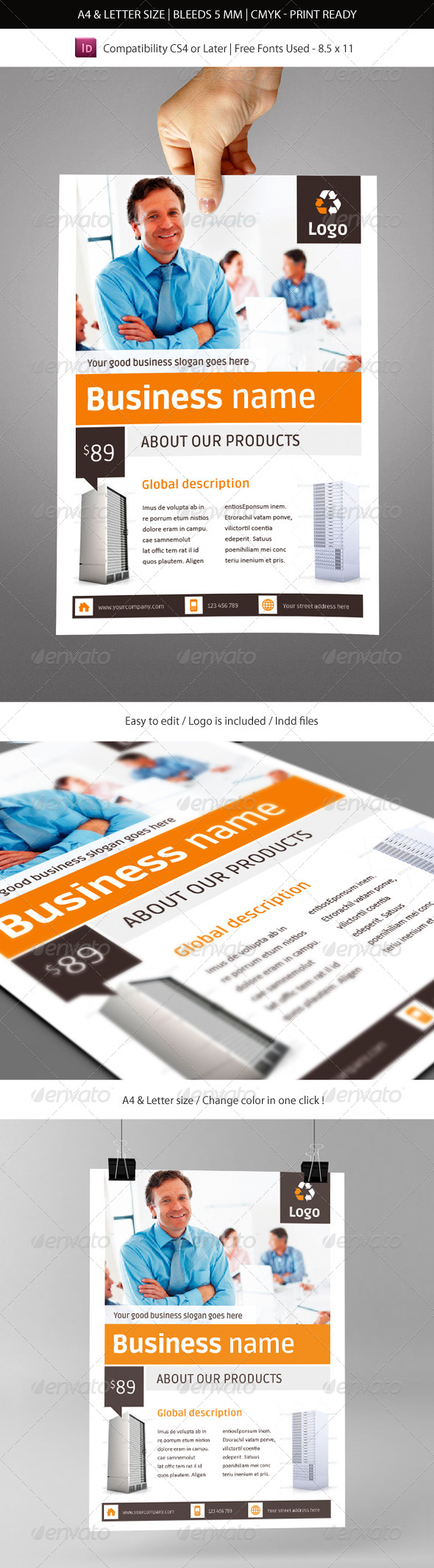 Corporate & Business Commerce Flyer Template
