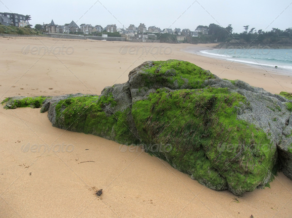 beach around Saint-Malo - Stock Photo - Images