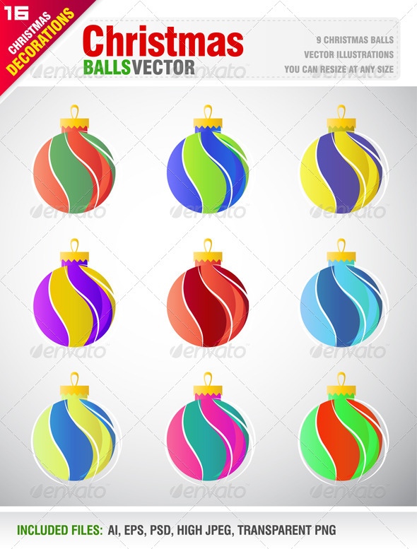 GraphicRiver Christmas Balls 5978606