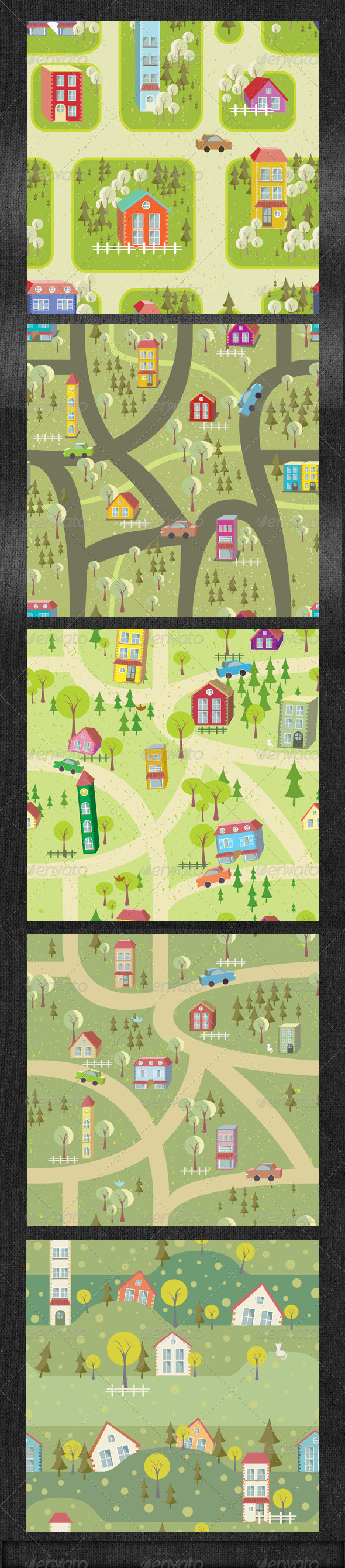 Seamles Pattern Background with Houses