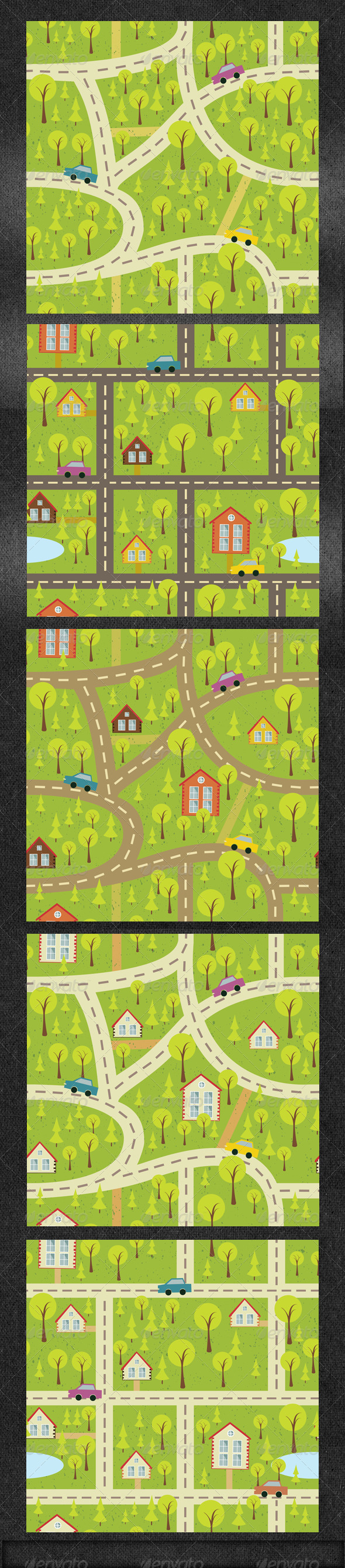 GraphicRiver Seamles Pattern Background with Houses 5978894