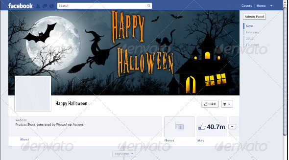 GraphicRiver Halloween Facebook Timeline Cover Photo 5957900