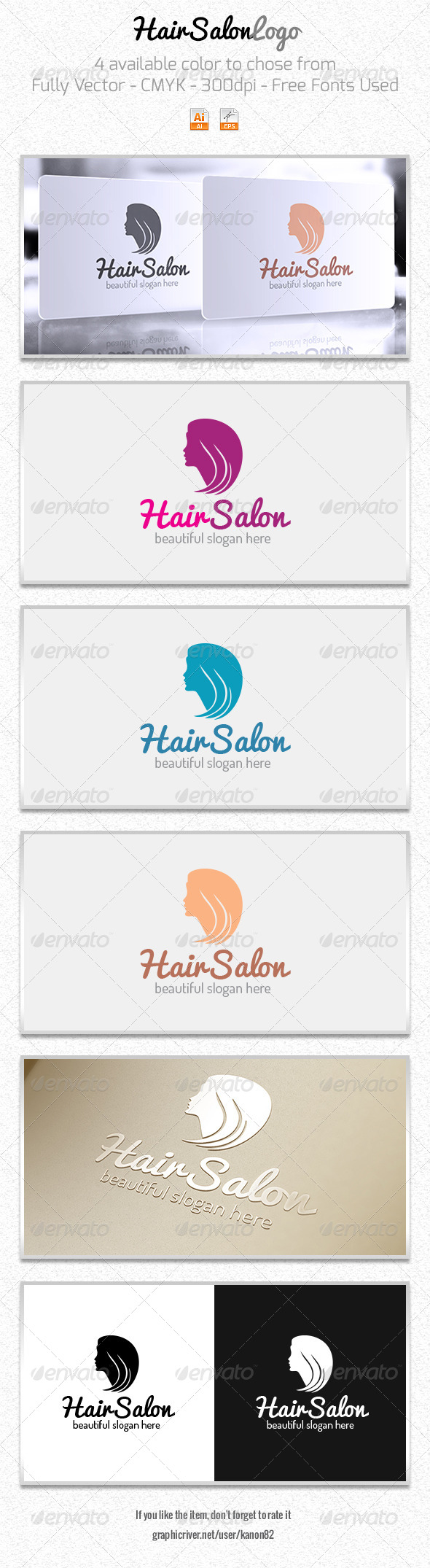 GraphicRiver Hair Style Logo 5968331