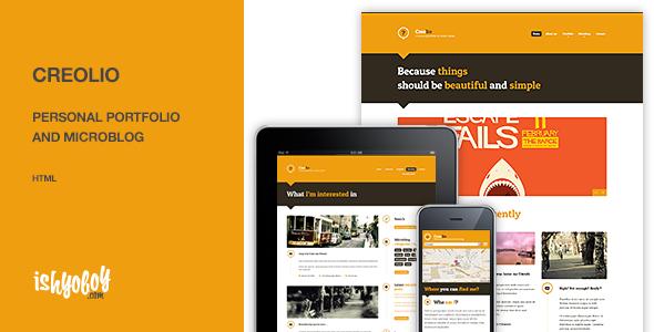 Creolio - Personal portfolio and microblog HTML - Portfolio Creative
