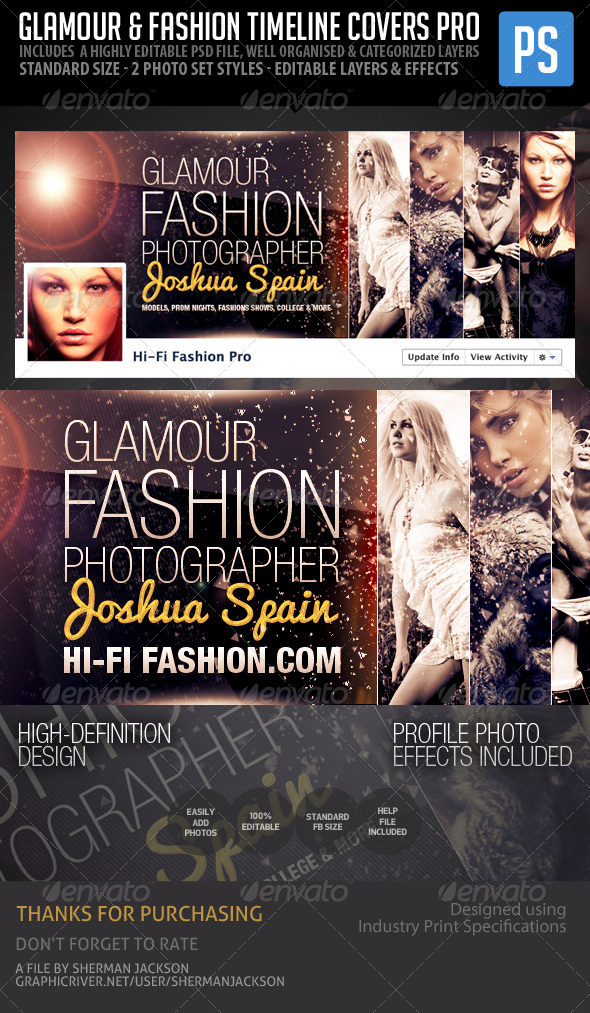 GraphicRiver Glamour & Fashion Facebook Timeline Cover Pro 5979406