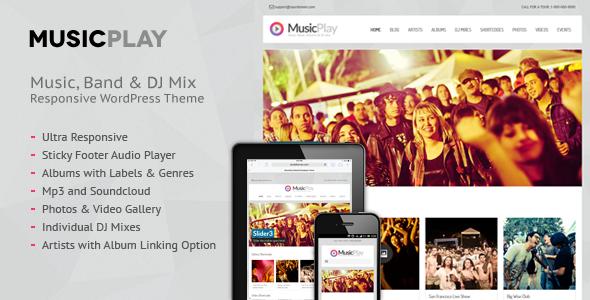 ThemeForest MusicPlay Music & DJ Responsive WordPress Theme 5979416