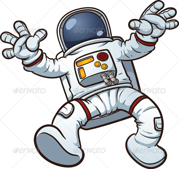 GraphicRiver Cartoon Astronaut 5979430