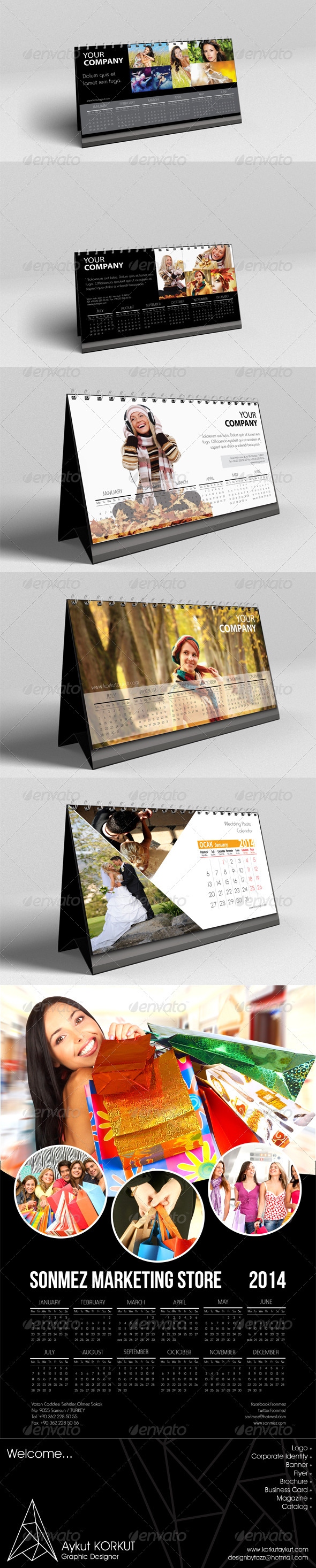 GraphicRiver 2014 Calendars 5954055