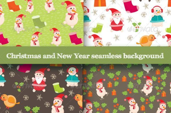 GraphicRiver Christmas Pattern 5979795