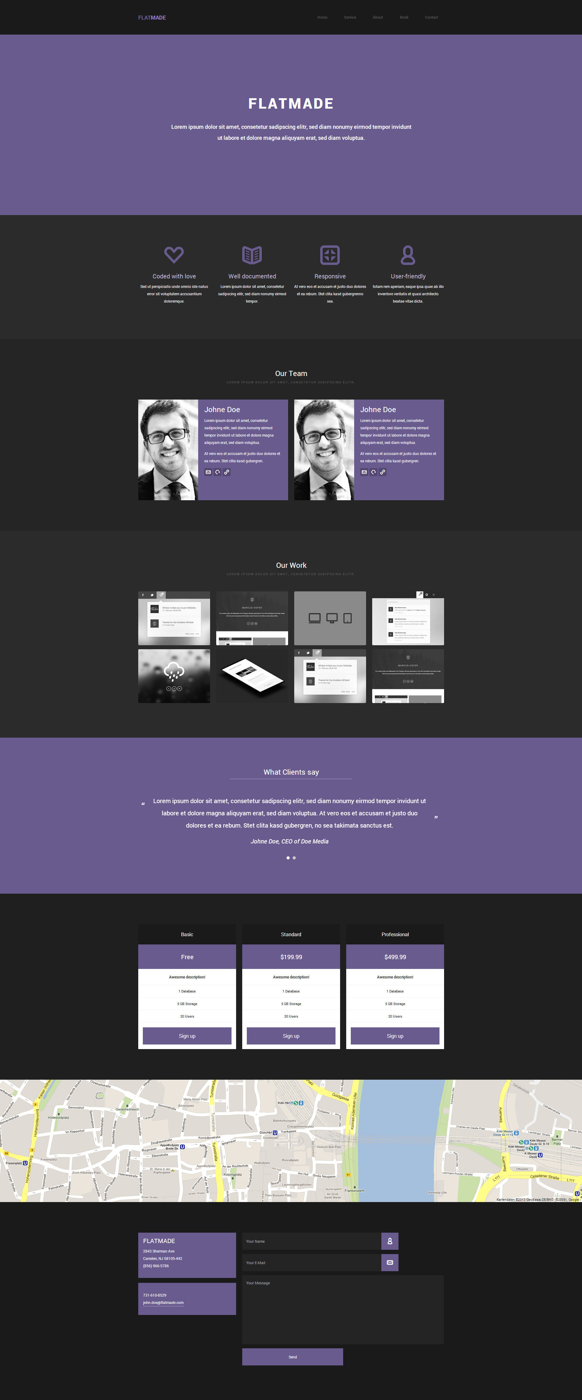 FLATMADE - Responsive HTML5 Theme