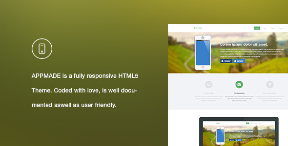 APPMADE - Responsive App Landing Page