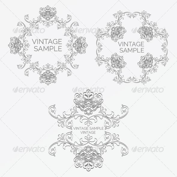 GraphicRiver Vintage Frame 65 5980094