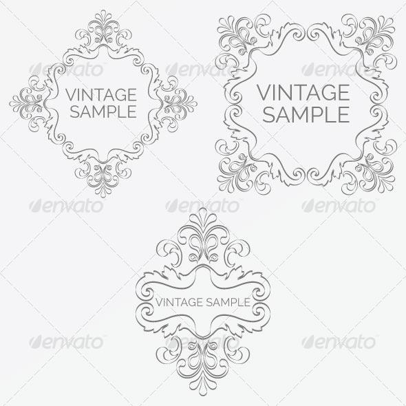 GraphicRiver Vintage Frame 68 5980112