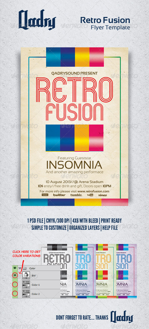Retro Fusion Flyer Template