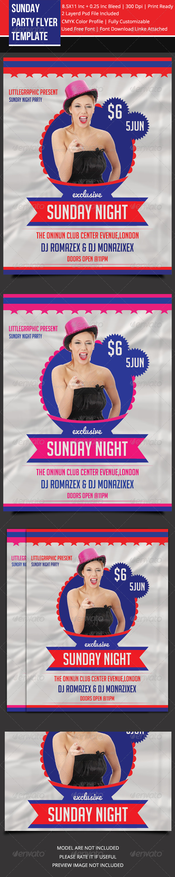 GraphicRiver Sunday Party Flyer 2 5980773